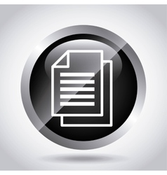 file document paper isolated icon vector image