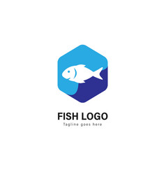 fish logo template design fish logo with modern vector image