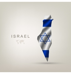 flag israel as a country vector image