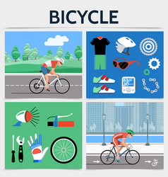 flat bicycle square concept vector image