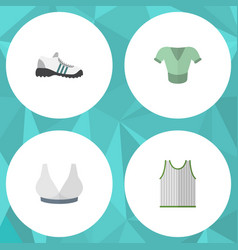 Flat icon clothes set of brasserie casual vector