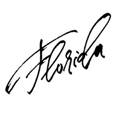 Florida modern calligraphy hand lettering for vector