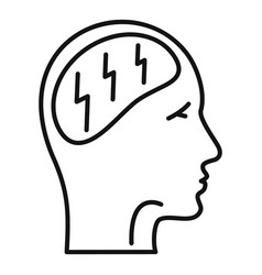 forget memory disease icon outline style vector image