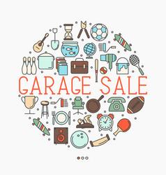 Garage sale or flea market concept vector