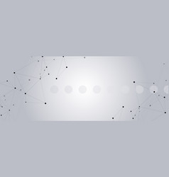 Geometric grey background connected vector