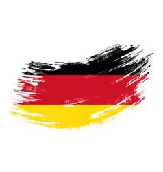 German flag grunge brush background vector