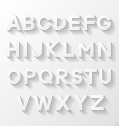 Graphic alphabet set vector