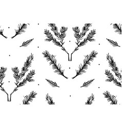 hand drawn merry christmas rough freehand vector image