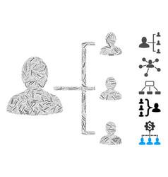 Hatch collage user scheme vector