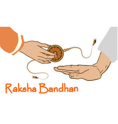indian festival raksha bandhan vector image