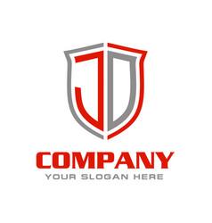 Letter j d logo design vector
