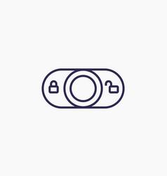 lock switch line icon vector image