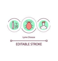 lyme disease concept icon vector image