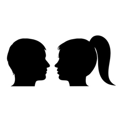 Man and woman face profile vector
