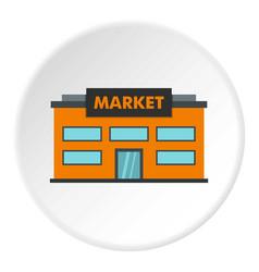 Market icon circle vector