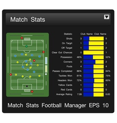 match start football manager vector image