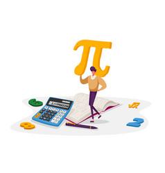 Mathematics science and algebra concept tiny vector