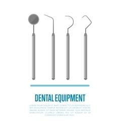 Medical equipment tools for teeth dental care vector