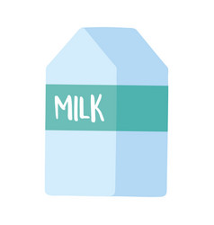 milk box food market isolated icon design white vector image