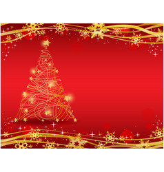 ornate golden christmas tree vector image
