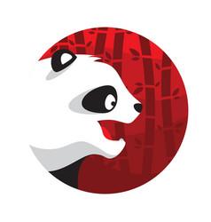 panda logo in flat style vector image