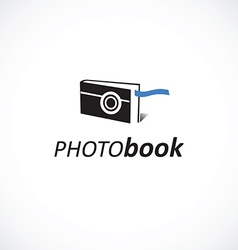 Photo book logo vector