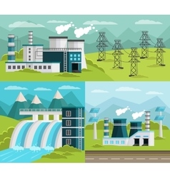 Power Generation Banners Set vector