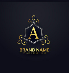 premium logo design for letter a vector image