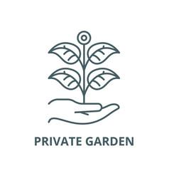 private garden line icon linear concept vector image