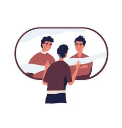 Psychological concept split personality vector