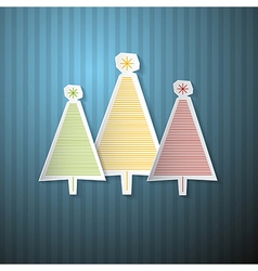 Retro Background with Paper Trees vector image vector image