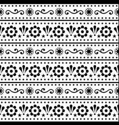 scandinavian folk art seamless pattern vector image