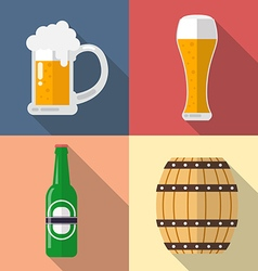 Set beer icon vector