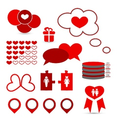 Set infographic elements of valentine presentation vector