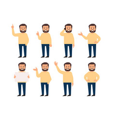 set of a guys in different poses vector image