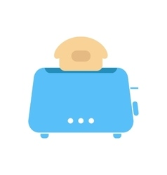 simple blue toaster icon vector image