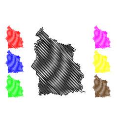Sisaket province map vector