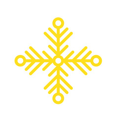 snowflake merry christmas icon set flat design vector image
