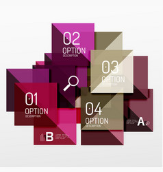 Square infographic banner vector