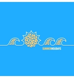 summer holiday line design background vector image vector image