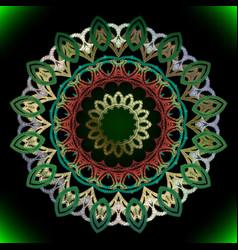 textured vintage round mandala pattern ornamental vector image