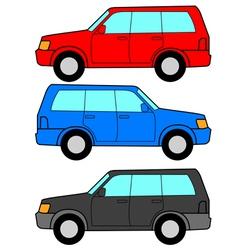 transportation symbols vector image vector image