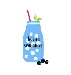 Vegan smoothie vector
