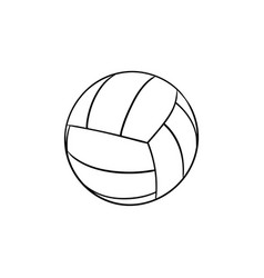 volleyball ball hand drawn outline doodle icon vector image