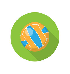 volleyball in flat design vector image vector image