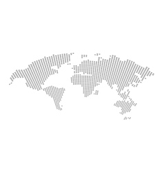 World map isolated on white vector image