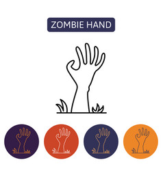 Zombie hand from hell vector