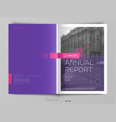 cover design annual report flyer brochure vector image
