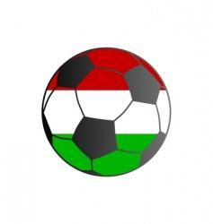flag of Hungary and soccer ball vector image