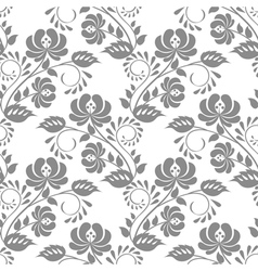 Gray rose on white background vector image vector image